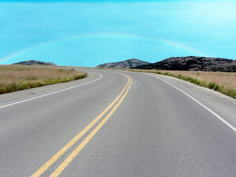 Strada nelle montagne di Wichita immagine stock