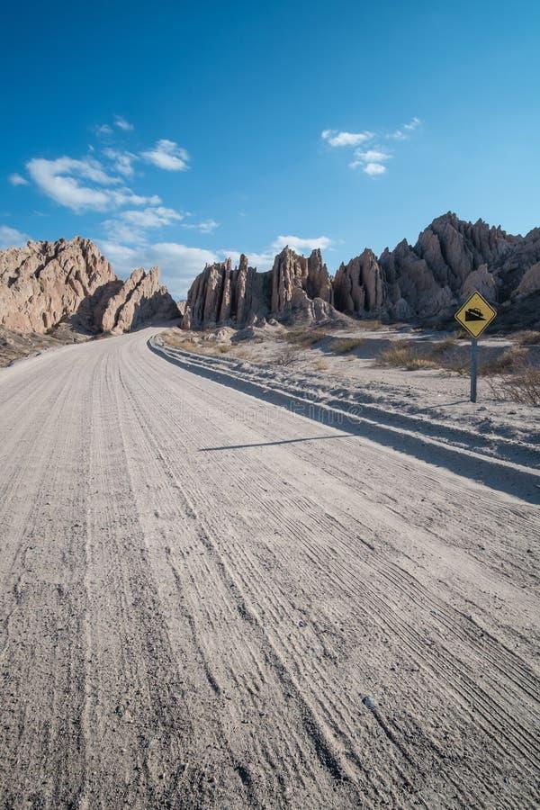 Strada non asfaltata andina immagine stock