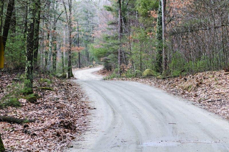 Strada non asfaltata vicino a Barden Reservoir fotografia stock libera da diritti
