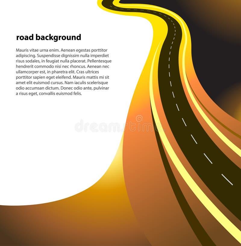 Strada o strada principale di vettore illustrazione vettoriale