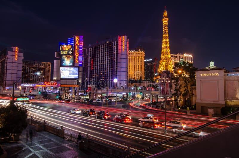 Strada orientale del fenicottero a Las Vegas immagini stock