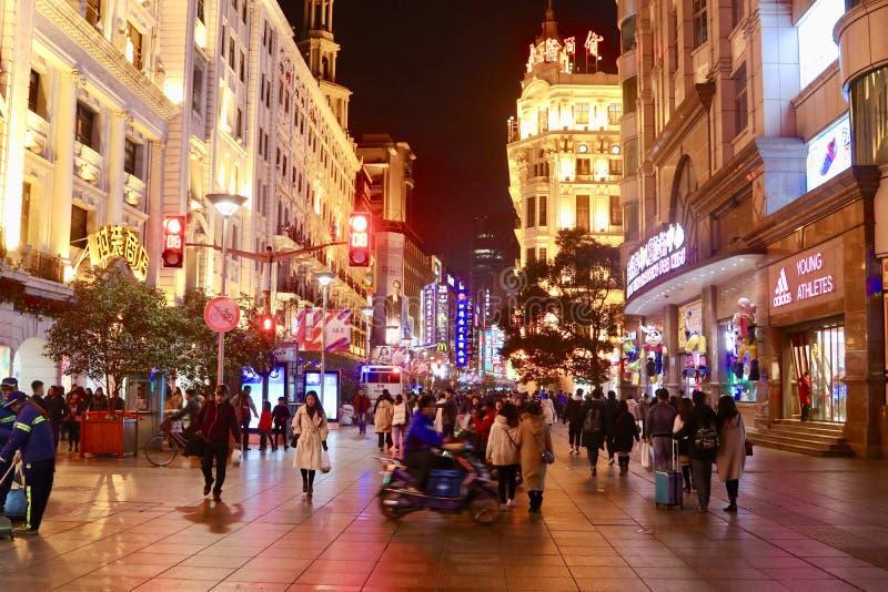 Strada orientale di Nanchino, Shanghai immagini stock libere da diritti