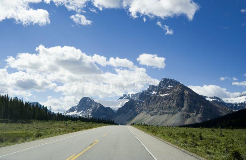 Strada panoramica di Icefield fotografie stock