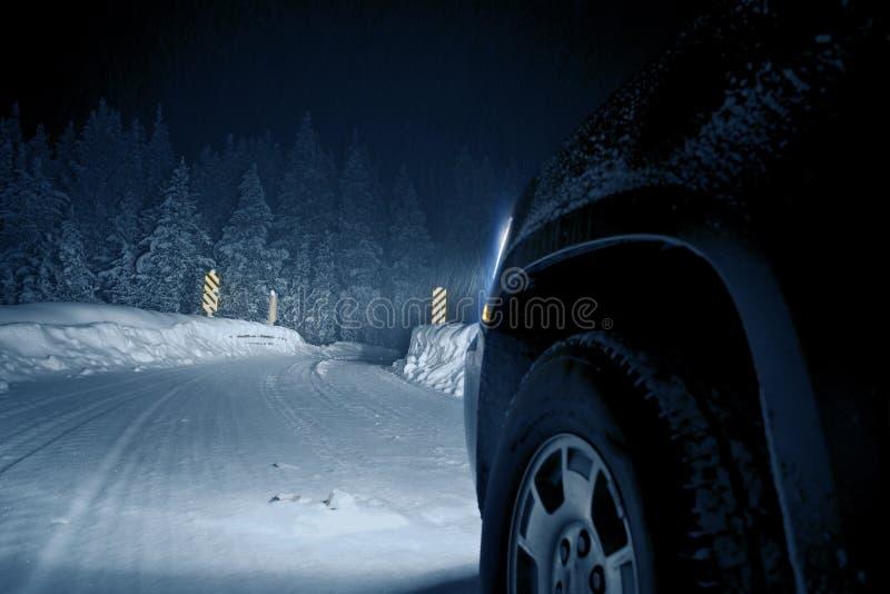 Strada pericolosa di inverno fotografia stock libera da diritti