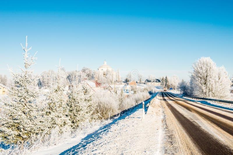 Strada pericolosa di inverno fotografia stock