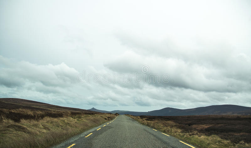 Strada persa in Connemara fotografia stock