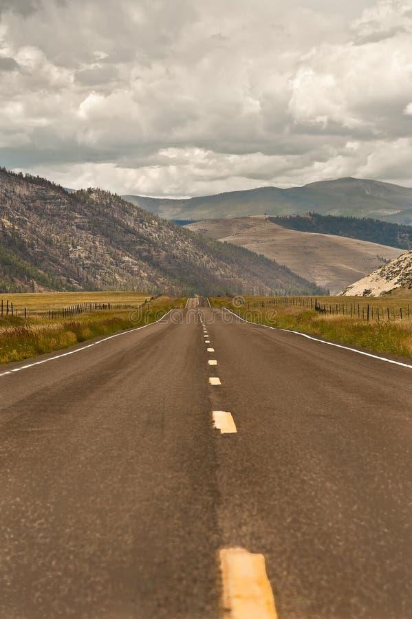 Strada principale 02 del Montana fotografia stock