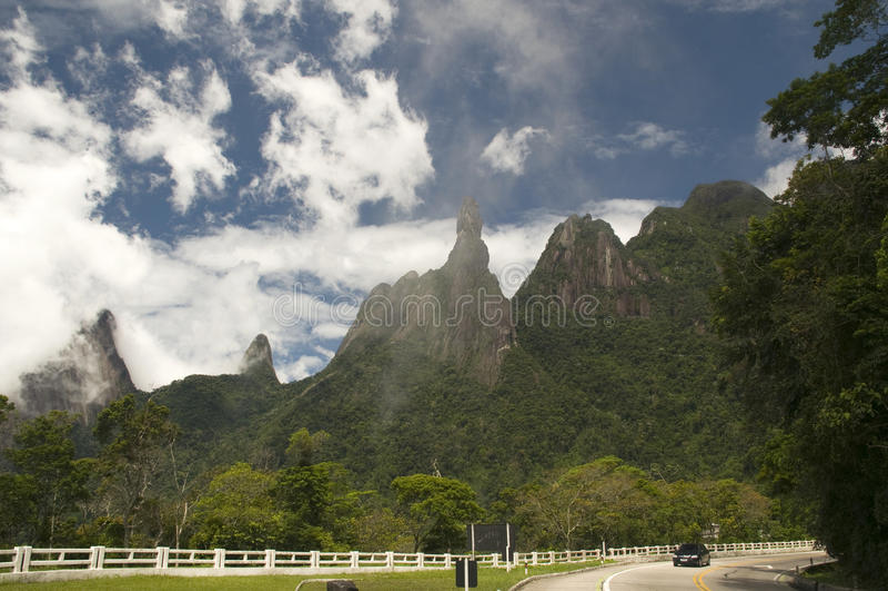 Strada principale del Brasile immagine stock