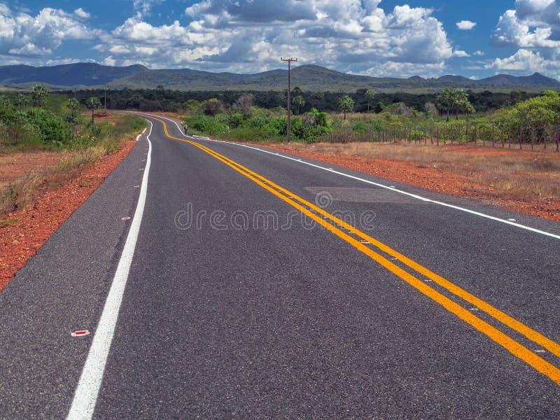 Strada principale del Brasile fotografie stock