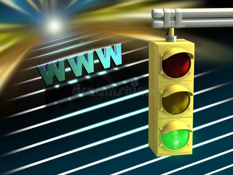 Strada principale del Internet illustrazione vettoriale