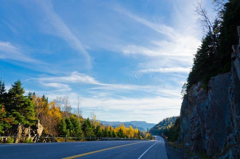 Strada principale del trasporto Canada fotografie stock