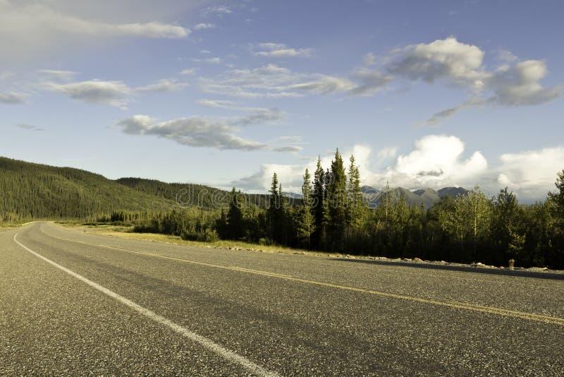 Strada principale dell'Alaska fotografia stock