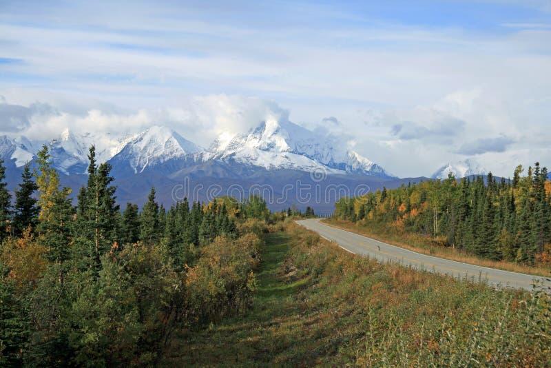 Strada principale dell'Alaska immagine stock