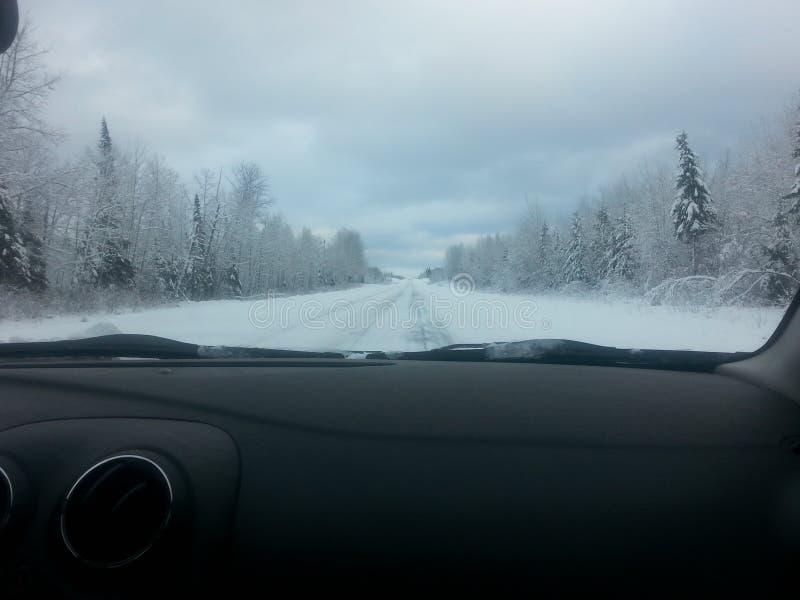 Strada principale di inverno fotografia stock