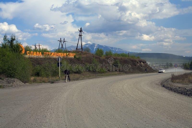 Strada principale di Kolyma fotografia stock libera da diritti