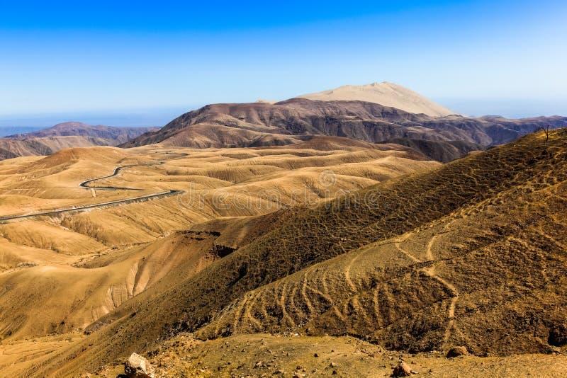 Strada principale di Nazca-Abancay immagine stock libera da diritti