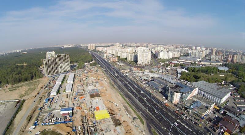 Strada principale di Novoryazanskoe fotografia stock libera da diritti