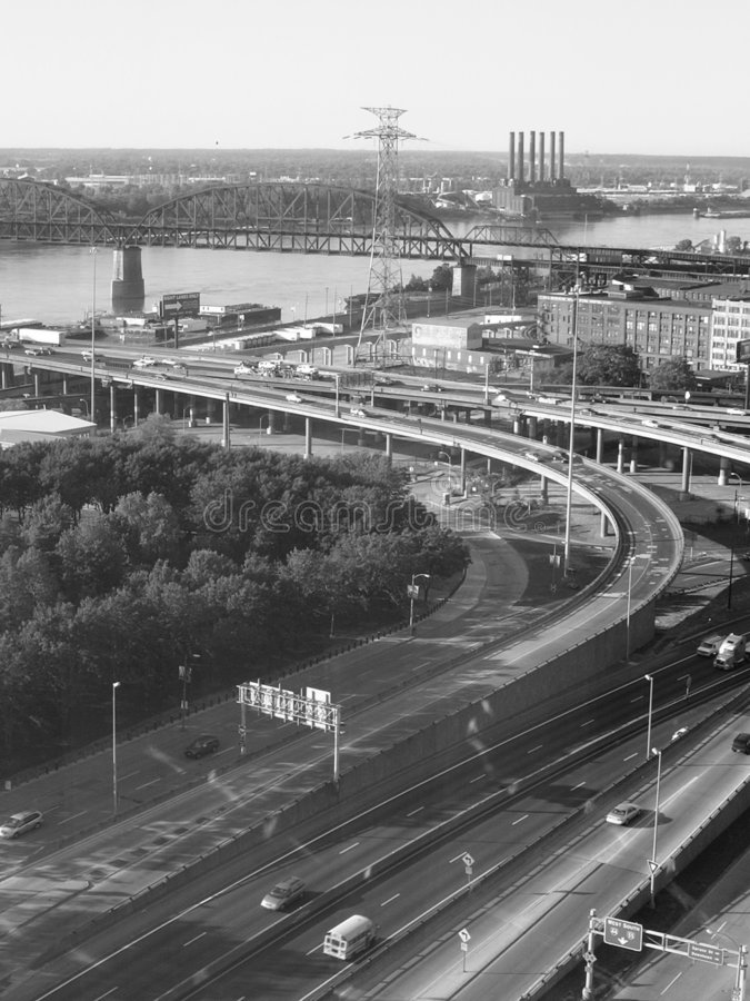 Strada principale di St. Louis fotografie stock