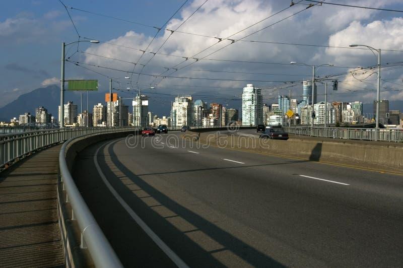 Strada principale di Vancouver immagine stock