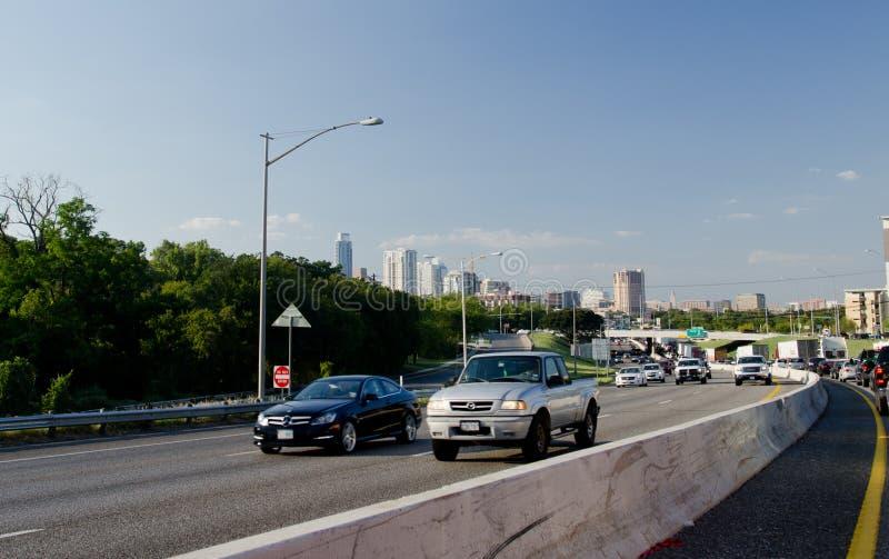 Strada principale I35 in Austin immagine stock