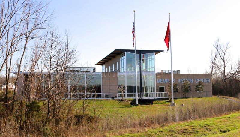 Strada principale I-40 Memphis Tennessee Visitors Center immagine stock libera da diritti