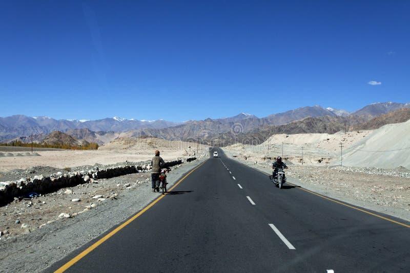 Strada principale in Ladakh fotografie stock libere da diritti