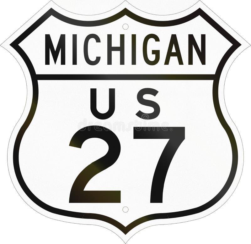 Strada principale Michigan degli Stati Uniti illustrazione di stock