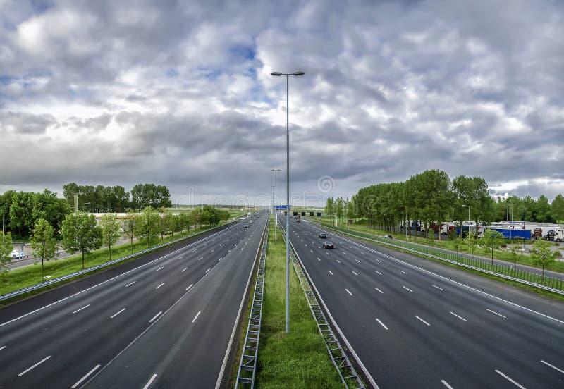 Strada principale in Olanda immagine stock