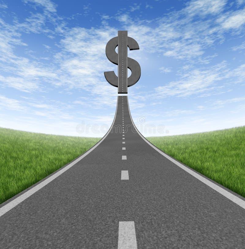 Strada principale a ricchezza illustrazione di stock