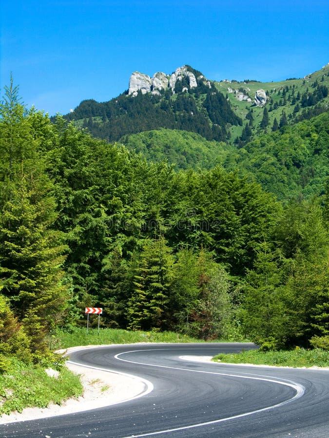 Strada principale in Romania fotografia stock libera da diritti