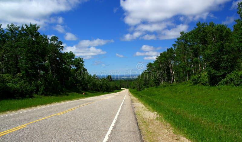 Strada principale scenica Ontario/Canada vicino al lago Superiore fotografie stock libere da diritti