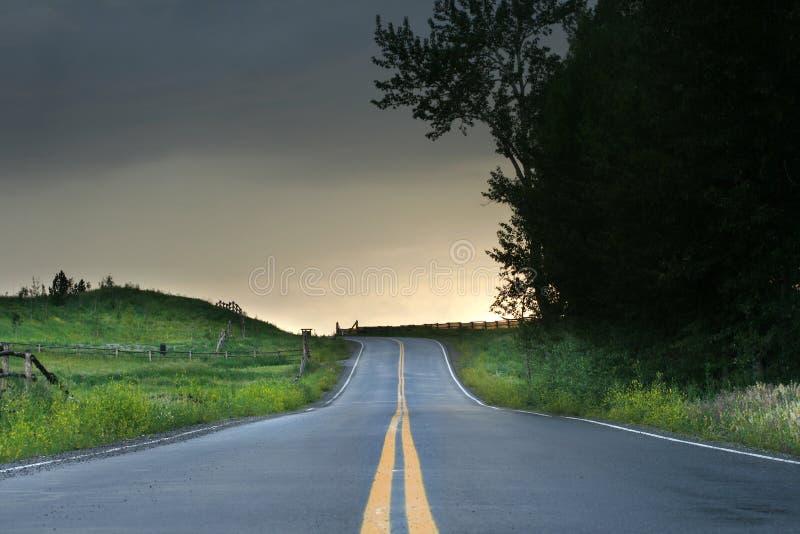 Strada principale sola immagine stock libera da diritti