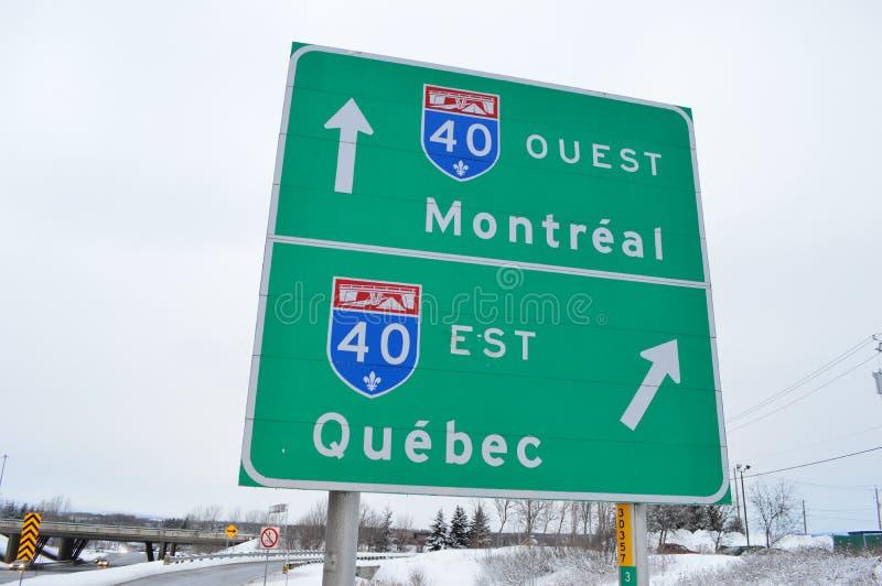 Strada in Quebec e Montreal fotografie stock