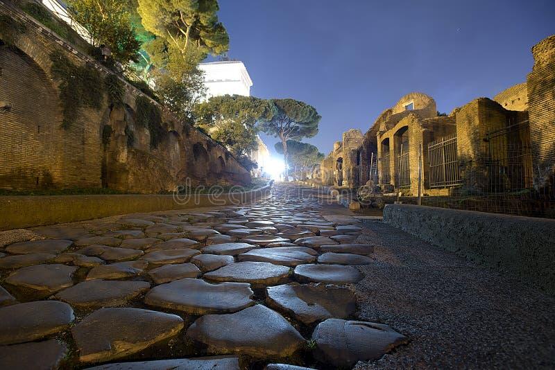 Strada romana dietro Campidoglio fotografie stock