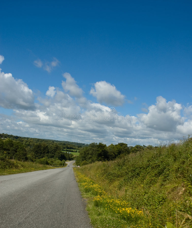 Strada rurale in estate immagini stock libere da diritti