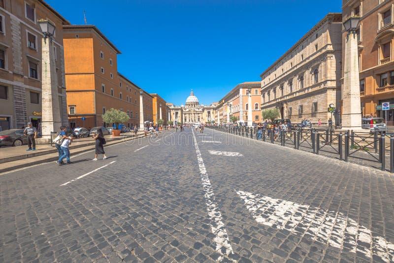 Strada a San Pietro immagine stock libera da diritti