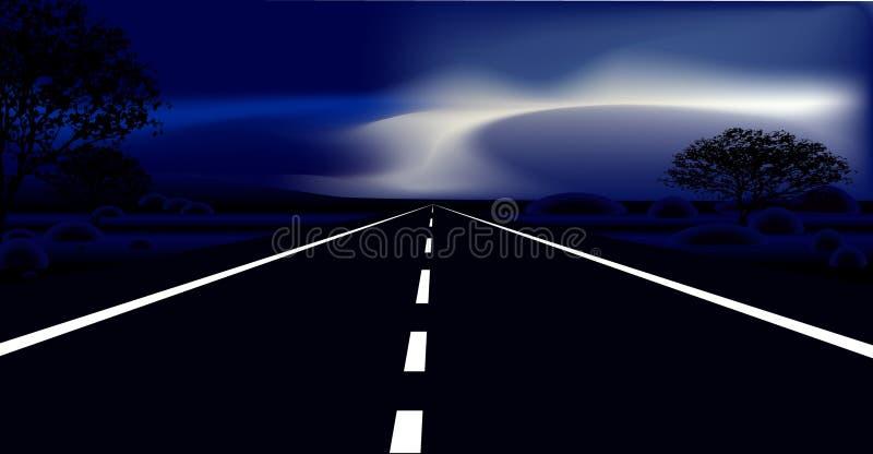 Strada scura illustrazione vettoriale