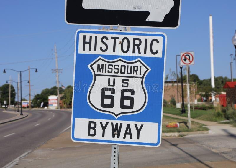 Strada secondaria del Missouri Stati Uniti 66 fotografia stock libera da diritti