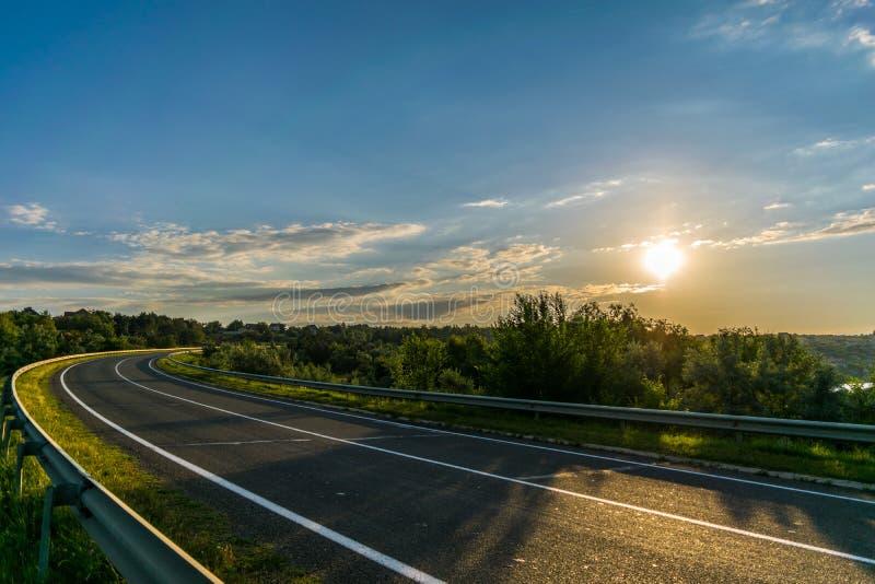 Strada solare fotografia stock
