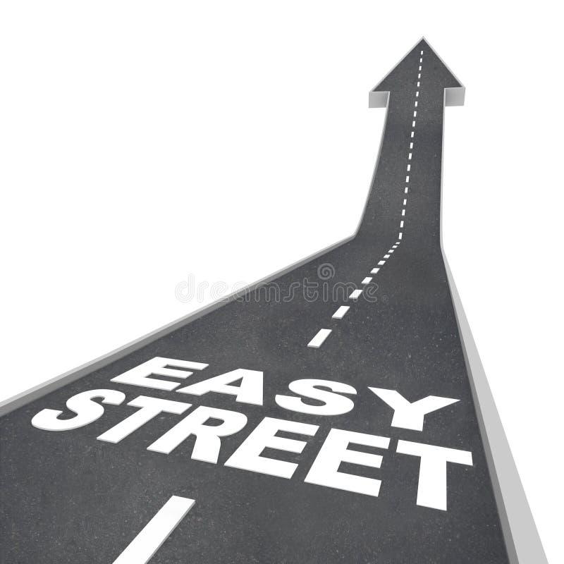 Strada spensierata vivente ricca lussuosa delle ricchezze della via facile royalty illustrazione gratis