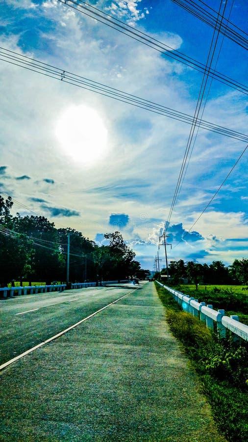 Strada stretta nell'isola Quezon di Cagbalete fotografia stock libera da diritti