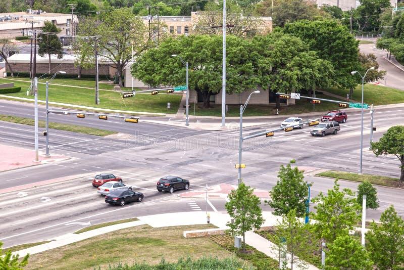Strada trasversale nella città di Dallas immagini stock libere da diritti