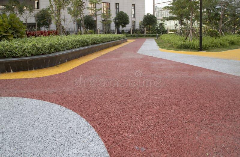 Strada variopinta e pianta nel parco fotografie stock libere da diritti
