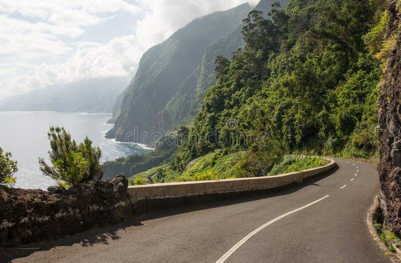 Strada ventosa sul Madera immagine stock libera da diritti