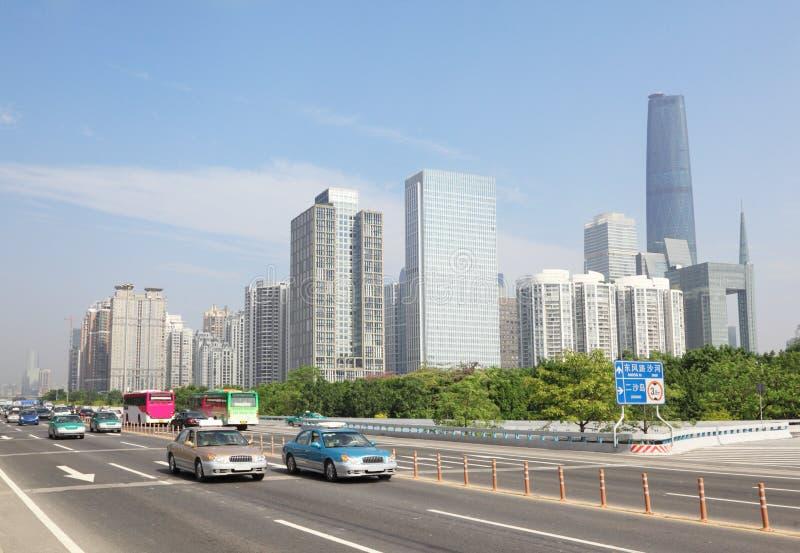 Strada vicino al centro di finanze internazionali