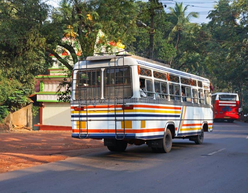 Strada vicino al Ponda goa L'India fotografie stock libere da diritti