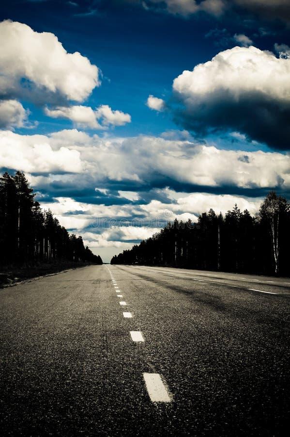 Strada vuota fotografie stock libere da diritti