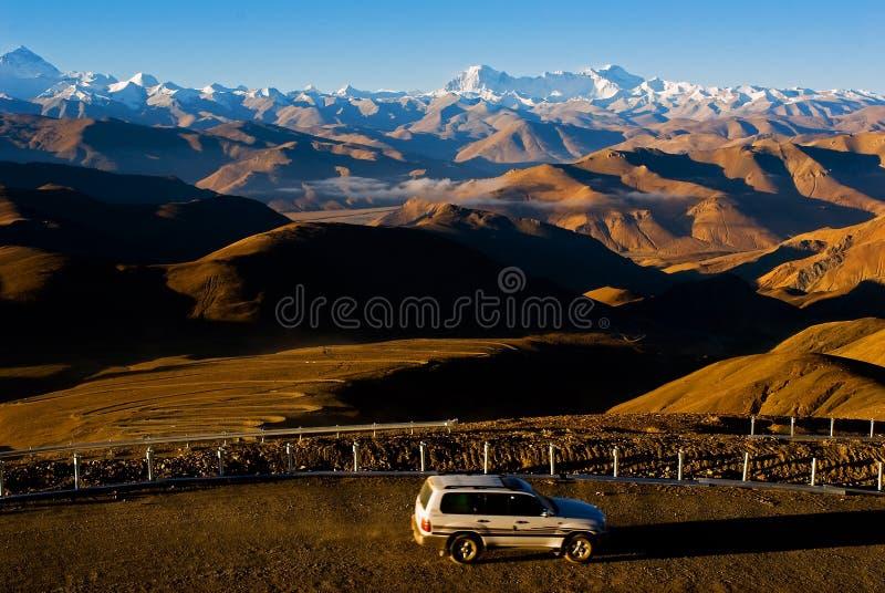 Strade di bobina in Himalaya immagini stock libere da diritti