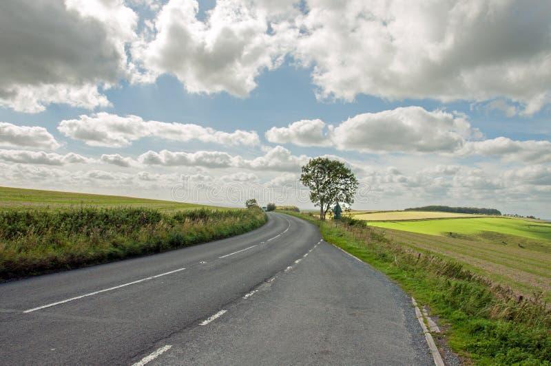 Strade di estate nella campagna inglese immagine stock