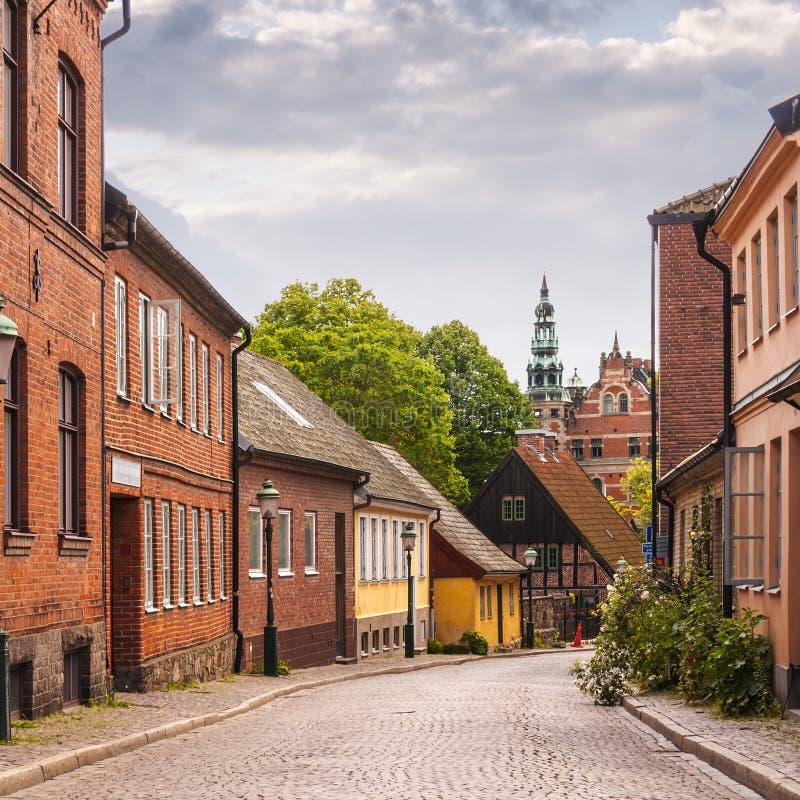 Download Strade di Lund immagine stock. Immagine di tetto, casa - 56884673